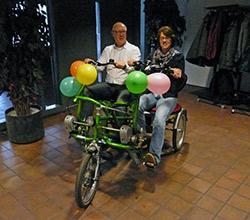 Side-by-side fietsen 't Bouwhuis